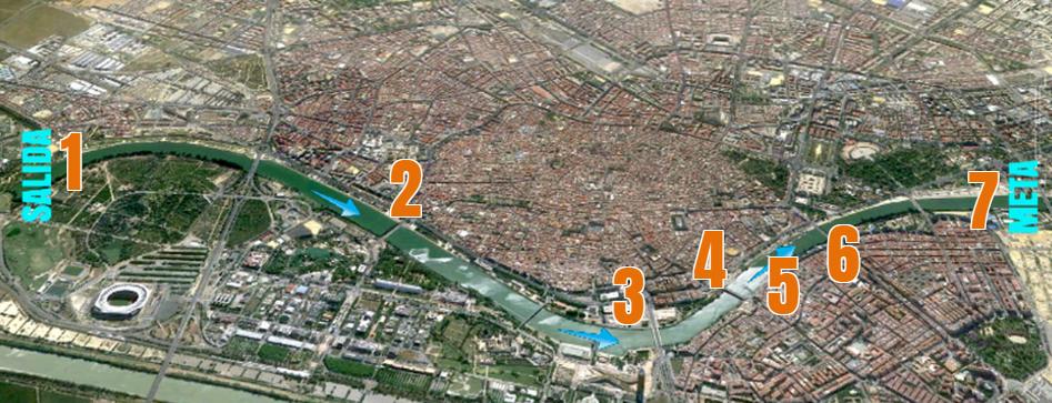 Mapa De Sevilla Capital.Donde Ver La Regata Sevilla Betis